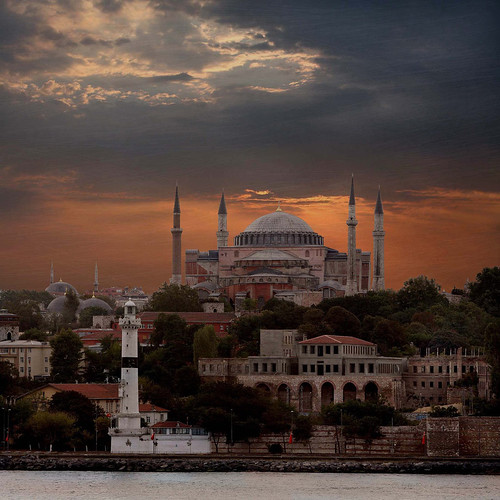 Hagia Sofia from the Golden Horn, Istanbul | by R. O. Flinn