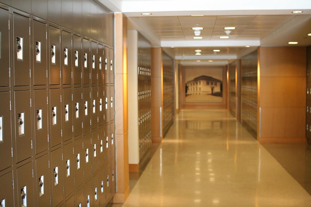 Image Gallery Lockers Hallway