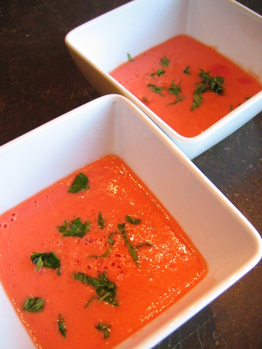 raw tomato and basil soup | by tofu666