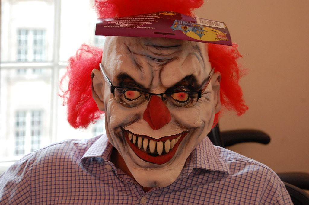 scary scary clown mask by andrew