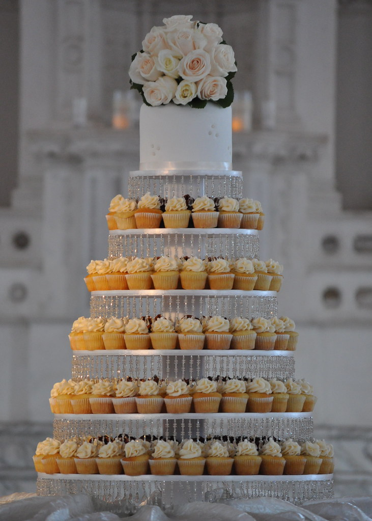 Wedding Cupcake Tower 300 mini cupcakes are on that 6 tier Flickr