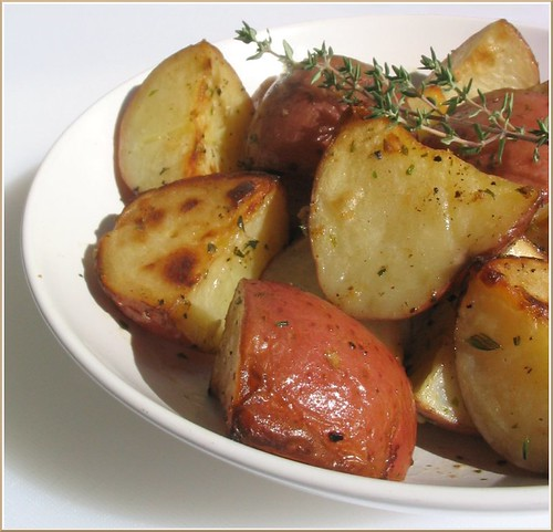 Thyme Roasted Potatoes | by Nook & Pantry