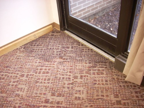 Water soaking new carpet | by Wendt Commons