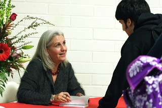 Terry Tempest Williams signing books during Campus Reading Celebration | by California State University Channel Islands