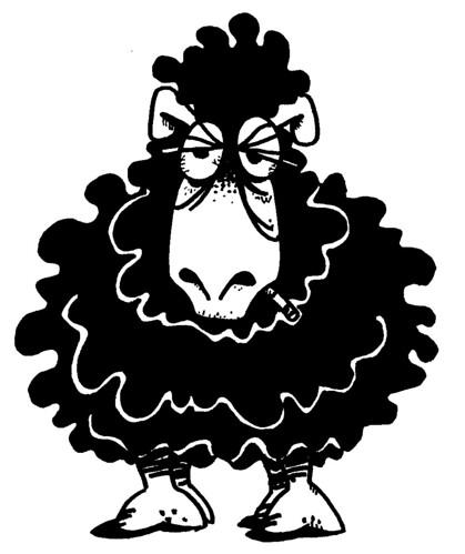 Mouton noir dessin original de st phane dit pavo source flickr - Dessin mouton ...
