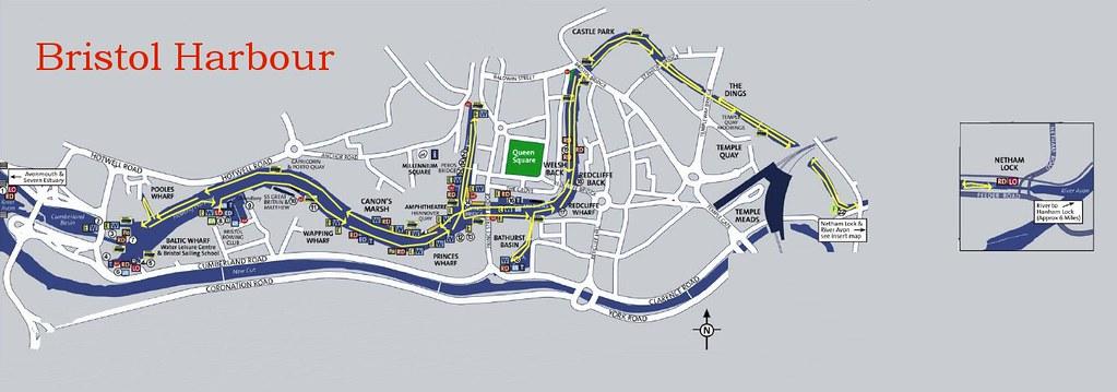 Bristol Harbour Map Map of Bristol Harbour showing the rou Flickr
