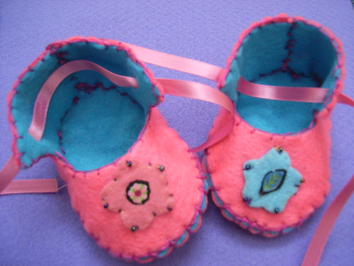 pink baby slippers | by Funky Shapes