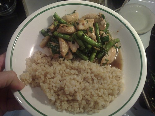 Thai-style chicken, green beans and basil stir fry | Flickr