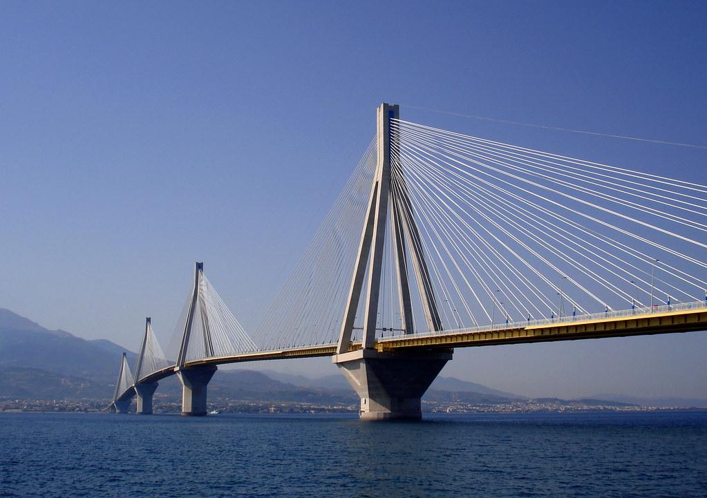Image result for Rio-Antirio Bridge in Rio and Antirio, Greece