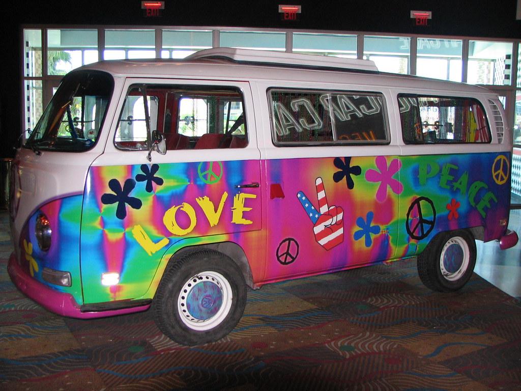 volkswagen van hippie wallpaper. vintage volkswagen bus at nascar cafe in las vegas by luv2run van hippie wallpaper