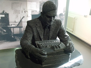 Bletchley Park - Block B - The Bletchley Park Story - Statue of Alan Turing - by Stephen Kettle | by ell brown