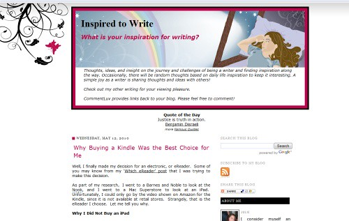 Inspired to Write | by Blogging Women