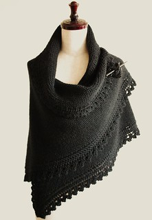 truly black shawl | by knittimo