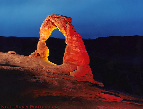 "Delicate Arch - night exposure | by IronRodArt - Royce Bair (""Star Shooter"")"