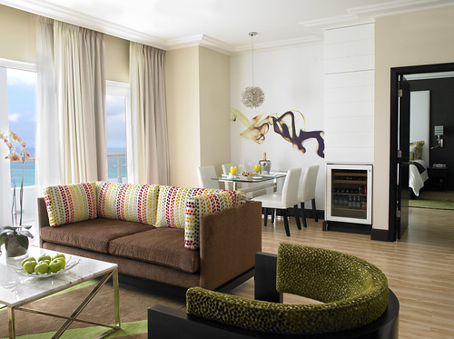 Suite Living Room with Expansive Balcony | by thepalmshotel