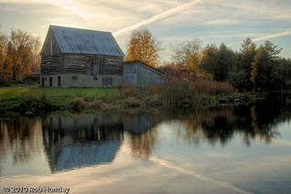 Barn reflection in a mill pond | by Rob Huntley Photography - Ottawa, Ontario, Canada