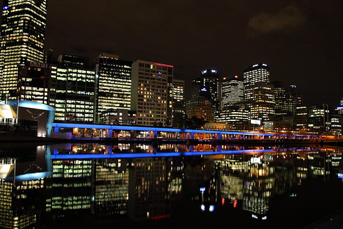 Yarra River; night, light, water, reflection | by -Damian-