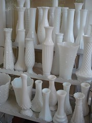 milk glass vases | by suzanneduda