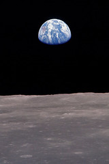Earth from the moon iPhone wallpaper | by The Pug Father