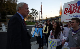 Rally Outside 2nd Debate at Marquette | by barrett4wi