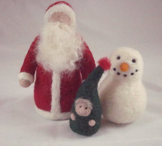 santa, snowman and elf | by dragonflyducky