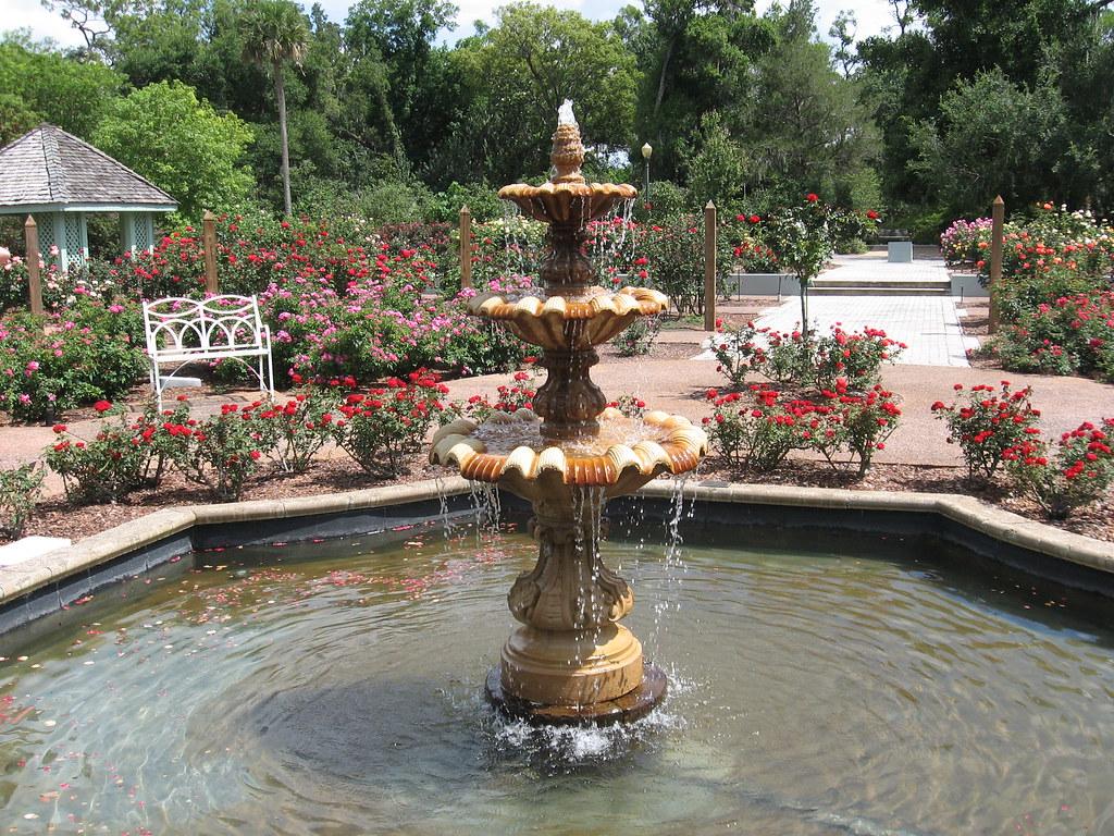 ... Harry P Leu Botanical Gardens Rose Garden Fountain | By Jim Moore
