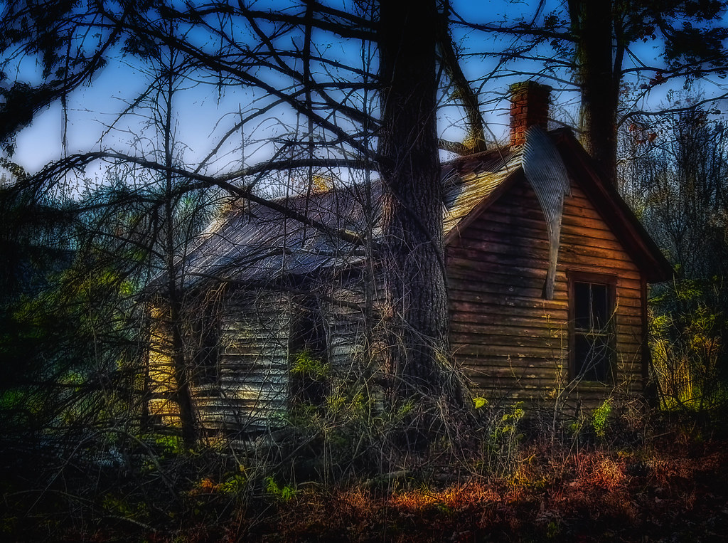 Image result for spooky cabin