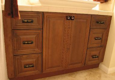 knobs and pulls on bathroom vanity with uneek glass fusions by uneek glass fusions - Bathroom Cabinets Knobs