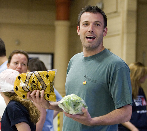 Ben Affleck Visits The Greater Boston Food Bank For Americ