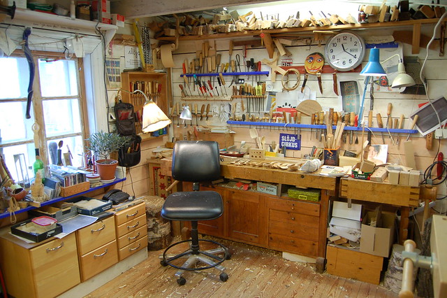 Wood Working Studio | Jögges wood craft shop - photo by Hanna Andersson (copyright)