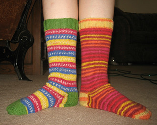 green and orange socks | by pinprick