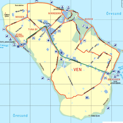 ven karta Hven map | Map stolen from: .venscykeluthyrning.se/karta.… | Flickr ven karta