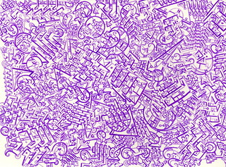 Purple Microdot Doodle | by jdyf333