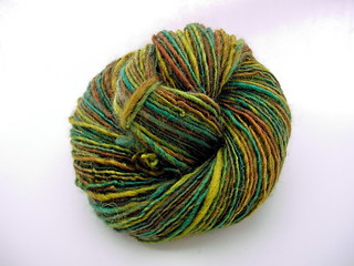 """Forest Moss"", single worsted/DK weight handspun 