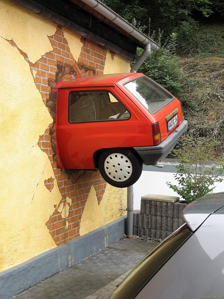 Auto In Wand Car In The Wall Ein Auto Das Bei Einem Aut Flickr