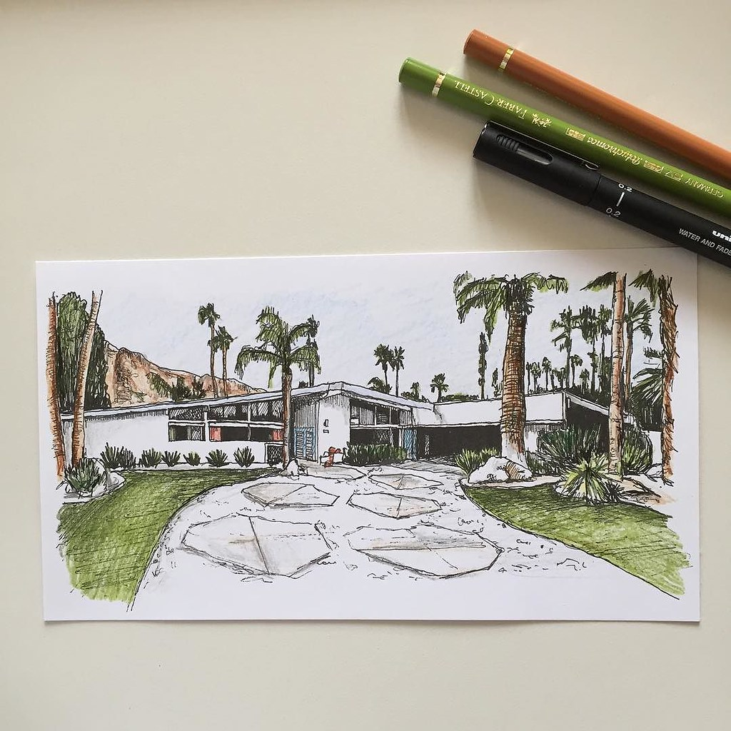 Since Its ModernismWeek In Palm Springs Heres A Little Sketch Of Mid Century Modern