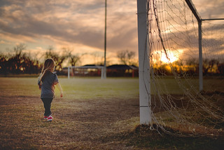 Amelia Tending to the Goal | by donnierayjones
