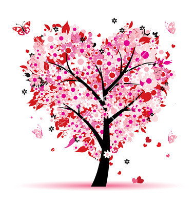 Valentine tree, love, leaf from hearts | by stephlowe2003