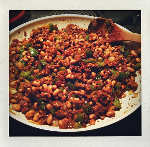 New Year's Day dinner - black eyed pea taco mix | by valatal