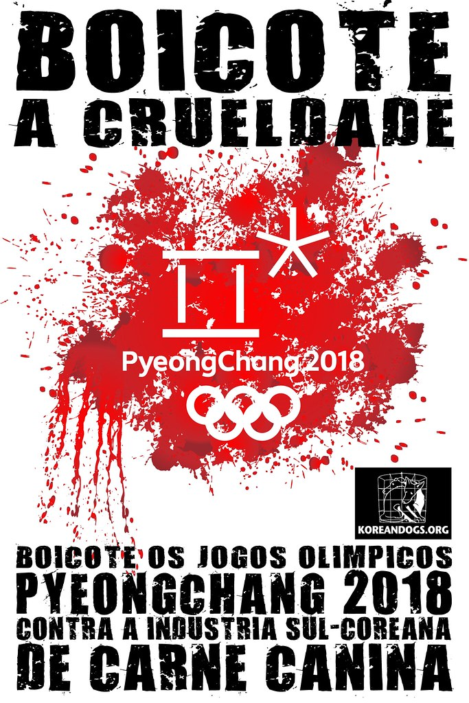 BOICOTE OS JOGOS OLIMPICOS PYEONGCHANG 2018