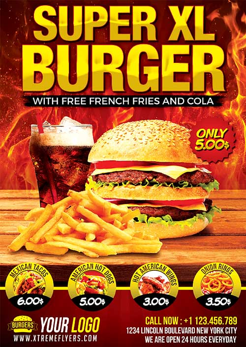 Fast Food Flyer Template   Fast Food Flyer Template PSD Fast…   Flickr