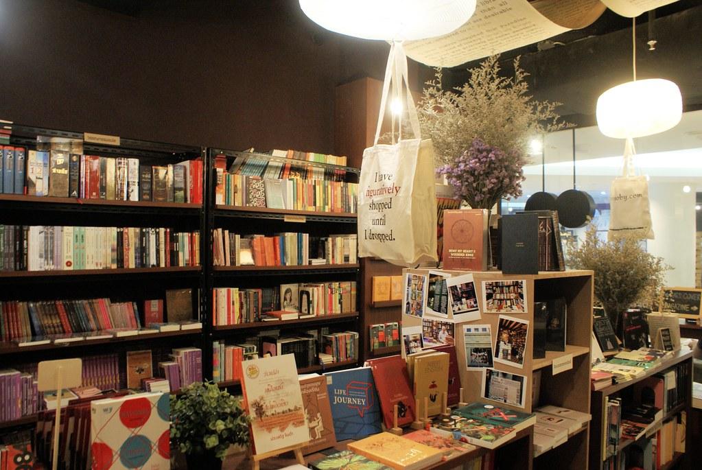 Une belle librairie dans le Bangkok art and culture centre.