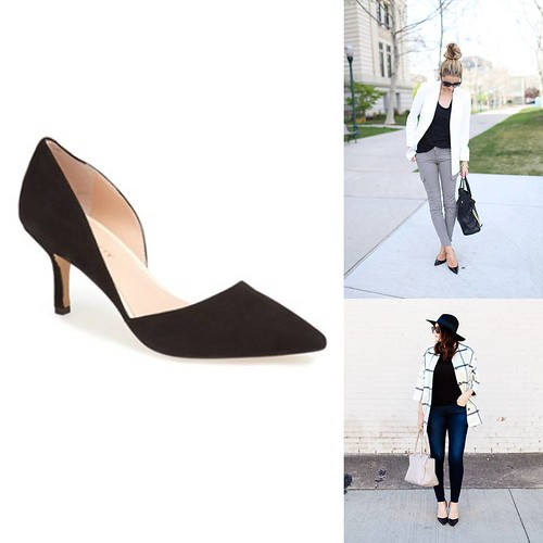 how to wear black suede heels | by It's Great To Be Home