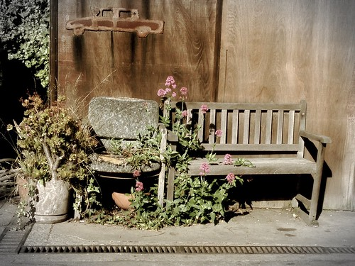 Chair and bench. #berkeley | by gina g10