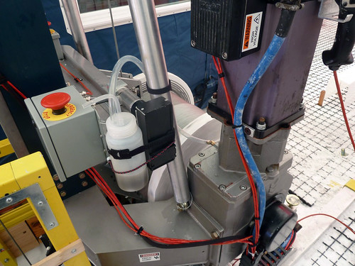 Vent tube and bottle added to the winch gearbox | by U.S. Ice Drilling