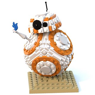 Testing out Bluerender for Mac! Great little app. Now BB-8s body is attached to the base and to the head! | by henlorentzen