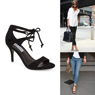 how to wear strappy black heels | by It's Great To Be Home