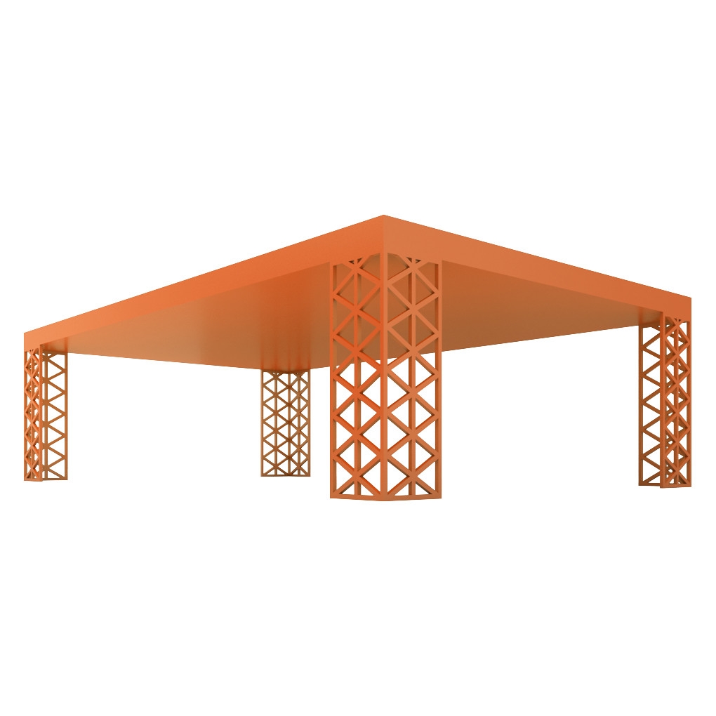 ... TT Orange SHORT   Short Table Legs   Trigon Triangle Orange | By  Designer
