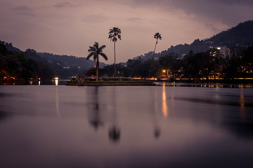 Kandy lake by night | by basvredeling