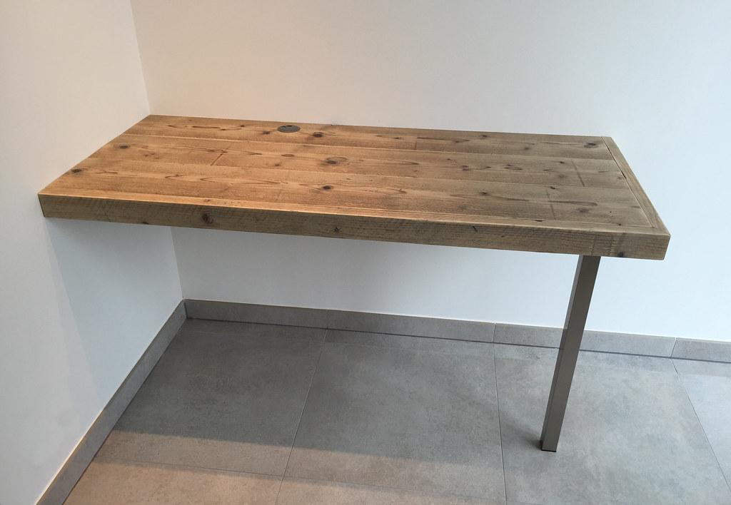 Bureau floating desk steigerhout te koop bij w tdesu flickr